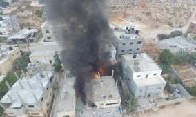 الاحتلال ينتقم من الشهيد عنكوش بتفجير منزل عائلته