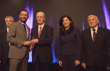 """فندق """"سان جورج"""" يحصد جائزة مصدّر فلسطين للسياحة الوافدة لعام 2017"""