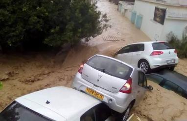 فيديو- وفاة 4 أشخاص في فيضانات شديدة بتونس