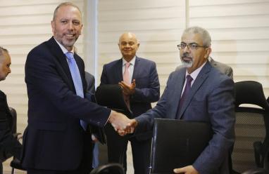 اتفاقية لإنشاء مصنع متطور للأعلاف في جنوب فلسطين
