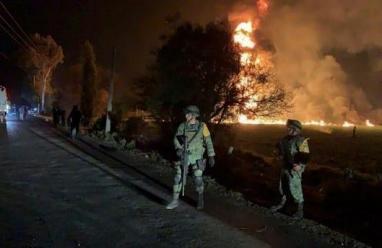 20 قتيلا وعشرات الجرحى جراء احتراق خط أنابيب في المكسيك