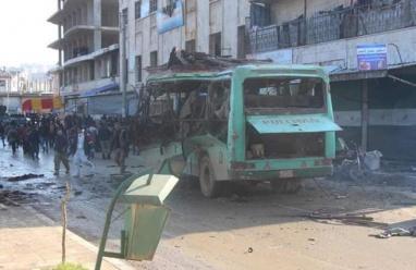 مقتل 10 أشخاص بتفجير عبوتين شمال سوريا