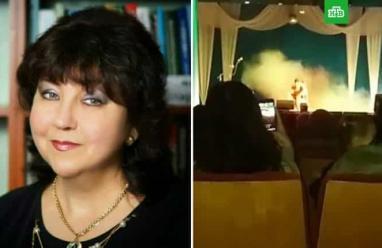 بالفيديو.. وفاة مطربة روسية أثناء غنائها على المسرح