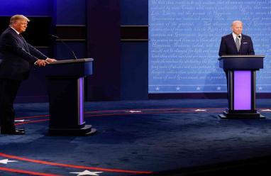 الميكروفونات ستُقطع عن ترامب وبايدن خلال مناظرتهما الاخيرة منعاً للتشويش