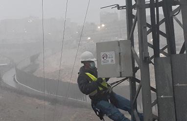 كهرباء القدس: نجحنا في ضمان استمرار الكهرباء خلال المنخفض
