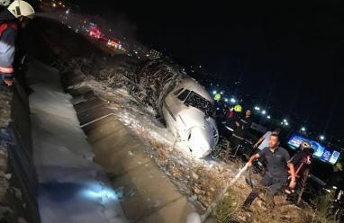 تحطم طائرة خاصة في مطار أتاتورك في اسطنبول