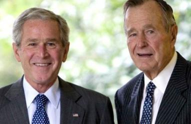 الأب والابن بوش يردان على ترامب