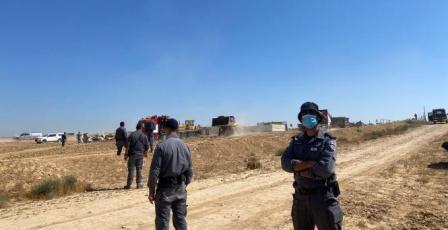 شرطة الاحتلال تقتحم خربة الوطن في النقب