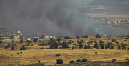 قذائف على الجولان وغارات جديدة على سوريا