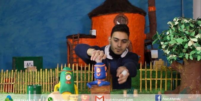 فايز الكركي.. أصغر صانع رسوم متحركة في فلسطين