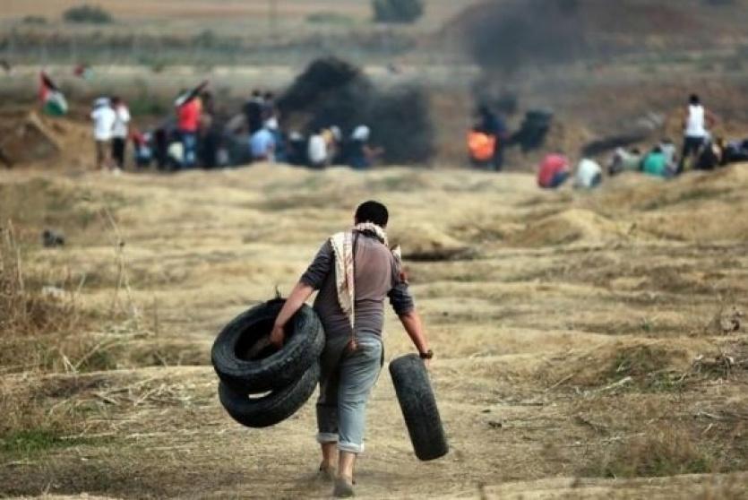 محدث- تسعة اصابات بينها خطيرة بمواجهات مع الاحتلال بغزة