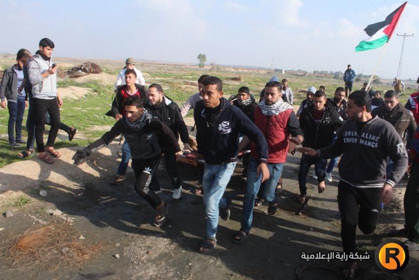 اصابة شاب برصاص الاحتلال شرق غزة اليوم