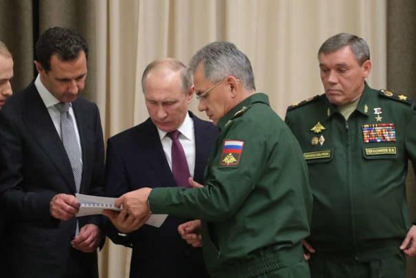 لقاء سابق بين بوتين والاسد