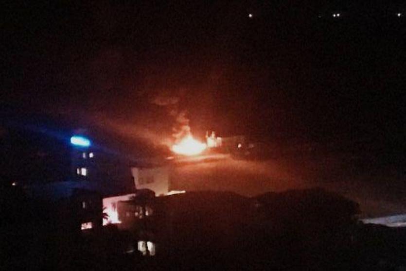 قصف ميناء غزة فجر الاربعاء