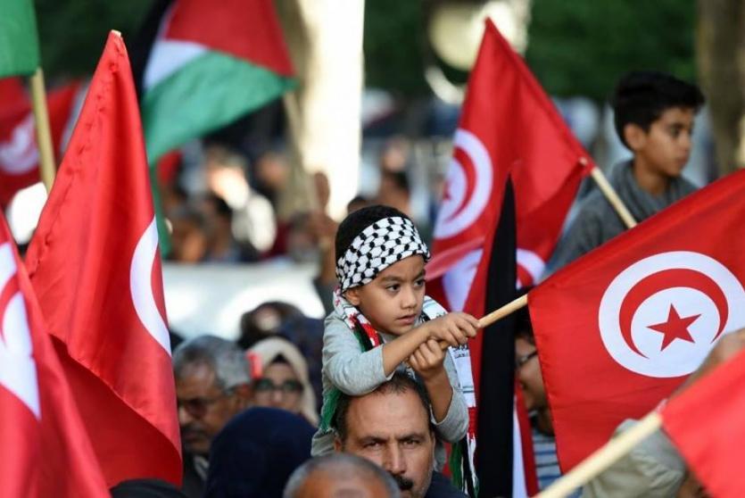 اعلام فلسطين وتونس