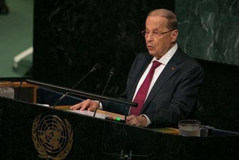 الرئيس اللبناني على  منبر الامم المتحدة