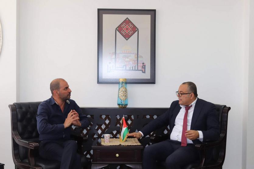 وزير الثقافة الدكتور عاطف أبو سيف في لقاء مع مؤسسة جفرا للإنتاج الموسيقي